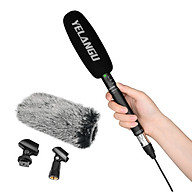 YELANGU MIC07 Professional Interview Microphone Long Distance Cardioid Pickup Low-cut Function 3.5mm Plug with thumbnail