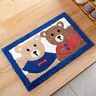 Thảm chùi chân 2 chú gấu xanh đỏ thumbnail