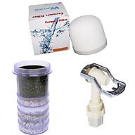 Combo bộ 3 thiết bị lọc nước LOẠI TỐT ( lõi lọc 6 tầng, nấm sứ và vòi bình lọc) thumbnail