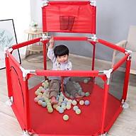Quây bóng cho bé, Nhà bóng cho bé có GIỎ BÓNG GIỔ, Lều bóng lục giác khung inox 1,4m2 thumbnail