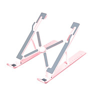 Portable Laptop Stand Tabletop Foldable 10 Levels Adjustable Laptop Riser Ventilated Cooling Laptop Stand thumbnail