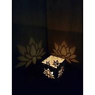 Hộp đèn gỗ cắt hình Bông Hoa Sen thumbnail