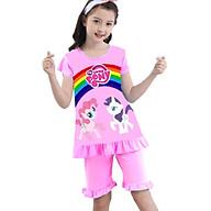 Đồ bộ bé gái lửng hình Pony từ 10-42kg - thun cotton - Giặt không vỡ hình. thumbnail