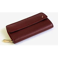 Ví Cầm Tay Nữ Có Quai Đeo Da Bò Cao Cấp Màu Đỏ WT Leather 090733 thumbnail