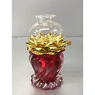 Đèn thờ đốt dầu , mẫu đèn xoắn đỏ - BH25 thumbnail