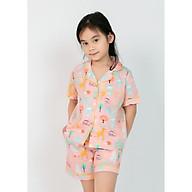 Bộ đồ mặc nhà Pijama bé gái áo cộc quần đùi thumbnail