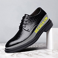 Giày da giày da nam cao cấp độn đế giày tăng chiều cao mã 36800-G đế cao 6cm thumbnail