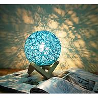 Đèn ngủ hình cầu ( Làm từ sợi mây dệt tự nhiên ) ( Tặng đèn led mini cắm USB ) thumbnail