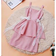 Đầm 2 dây màu hồng thiết kế Cao Cấp Sang Trọng thumbnail