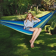 Võng ngủ du lịch võng dù lưới võng vải dù ngủ ngoài trời, du lịch dã ngoại phượt Hewolf hàng chính hãng - Xanh - 200 100cm thumbnail