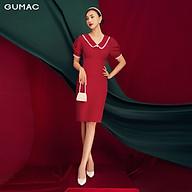 Đầm ôm nữ basic xếp ngực bản eo thời trang GUMAC DB1170 thumbnail