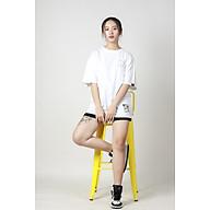 Áo phông tay lỡ form rộng Unisex Thêu Logo M Cao Cấp Local Brand Mi Midori thumbnail