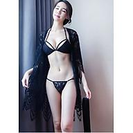 Bộ quần áo lót ren kèm áo choàng ngủ ren và đai bền đẹp (CHOÀNG XỊN)- Hàng cao cấp thumbnail