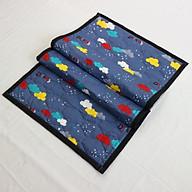 Nệm Ngủ Trưa Văn Phòng HOÀNG THIÊN HÀ - Trang Nhã - 100% vải coton thoáng mát, mềm mại, thấm hút mồ hôi. Giặt được bằng máy. Dể gấp gọn - Có túi đựng riêng thumbnail