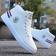 Giày nam cổ cao màu trắng gót kẻ 3 thumbnail