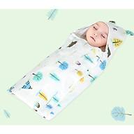 Chăn ủ kén xô có mũ cho bé sơ sinh kích thước 80 x80 cm (mẫu ngẫu nhiên) thumbnail