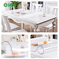 Khăn trải bàn PVC dẻo, màu trắng trong suốt, không thấm nước, dầu, chống trượt dễ dàng vệ sinh bảo về mặt bàn hiệu quả. thumbnail