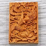 Mặt gỗ hoàng đàn khắc hình Phượng hoàng MG57 thumbnail