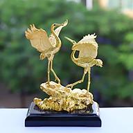 Tượng đôi chim hạc phúc lộc mạ vàng thumbnail