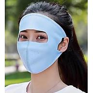 Combo Khẩu trang Ninja kèm Kính Nữ che kín toàn bộ mặt siêu chống khuẩn bụi, chống nắng thumbnail