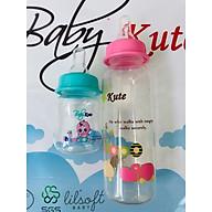 Combo Bình sữa cho bé 250ML Baby Kute dạng tròn kèm bình tập uống 60ML nhập khẩu từ Thái Lan thumbnail