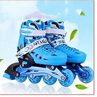 Dạy trượt patin cơ bản trẻ em tặng mũ và đồ bảo hộ (5 đến 14 tuổi) với bánh xe phát sáng, chống trầy xước, chống xé rách thumbnail