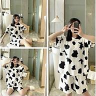 Sét bộ in bò sữa form Unisex -Phối quần đùi siêu xinh,Mặc nhà hay đi chơi đều đẹp thumbnail