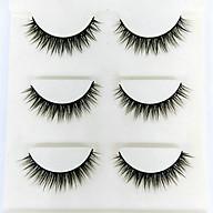 Lông mi giả lông chồn 3 Fashion Eyelashes 3 Faux-Cils 3D 1 bộ 3 cặp thumbnail