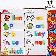 Thẻ học TIẾNG ANHSIÊU HOT Giúp bé tập đánh vần với hình ảnh và chữ minh họa sắc nét. thumbnail