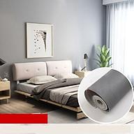 Cuộn 10M Giấy dán tường GDT35 - XÁM GHI TRƠN có sẵn keo rộng 45cm (tự thi công) dùng cho đủ loại bề mặt sơn, gỗ, kim loại với diện tích hoàn thiện đến 4m2 giúp không gian trở nên mới mẻ, sinh động thumbnail