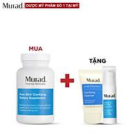 Viên uống giảm mụn Murad Pure Skin 120 viên Tặng Oil Free Water Gel 5ml + Clarifying Cleanser 15ml thumbnail