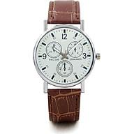 Đồng hồ nam thời trang cao cấp dây da bền bỉ mặt kính tròn to ZO97 thumbnail