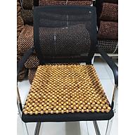 Miếng lót ghế văn phòng hạt gỗ Pơ Mu - Kích thước 45cm x 45cm - Đệm , thảm ,Lót giải nhiệt mùa hè thumbnail