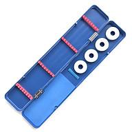 Hộp đựng phao câu đài, hộp đựng phụ kiện đồ câu, lưỡi câu T1999 chất liệu nhựa tổng hợp siêu bền, đa chức năng, nhỏ gọn dễ dàng mang đi. Tặng kèm 4 thẻo cước cuốn câu (Màu xanh dương) thumbnail