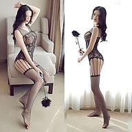Đồ Ngủ Tất Lưới Xuyên Thấu Khoét Đáy Sexy Bodystocking Erotic Lingerie Nightwear Brave Man BCS21 26 8058 thumbnail