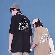 Áo thun tay lỡ nữ SAM CLO freesize - phông form rộng Unisex, mặc lớp, nhóm, cặp, in hình hoa cúc chữ FRIDAY THERAPY thumbnail