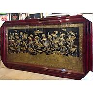 Tranh đồng, Đán Hạc Dưới Đầm Sen - A129 thumbnail