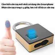 Ổ khóa vân tay kèm chìa khóa cỡ lớn Fipilock FL-S5 chống nước chống phá khóa lưu 10 vân tay thumbnail