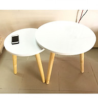 Cặp bàn tròn gỗ sofa phòng khách 50-40, bàn trà, bàn cafe, coffee, cà phê, bàn salon, sofa thumbnail