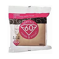Giấy lọc cà phê V60 Hario - Nâu - 3 cup - Mã VCF-03-100M thumbnail