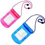 Bộ 2 Túi đựng điện thoại chụp hình dưới nước đi mưa chống nước cao cấp kèm dây đeo thumbnail