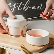Dụng cụ xay tỏi, ớt ,gia vị, thực phẩm đa năng cầm tay thumbnail