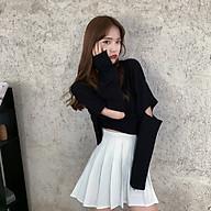 Áo thun croptop rách tay form rộng màu trơn cá tính trẻ trung cho nữ AE11 thumbnail
