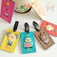 Name tag Thẻ ghi nhớ balo hành lý vali Nametag ngộ nghĩnh cute F719SP1 thumbnail