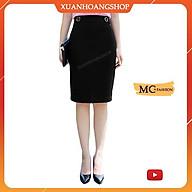 Chân Váy Bút Chì Đẹp Mc Fashion, Kiểu Dáng Chân Váy Công Sở, Lưng Cao, Nữ, Màu Đen, Ngắn Dài Qua Gối, Cv0416 thumbnail