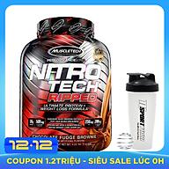 Combo Sữa tăng cơ giảm mỡ Whey Protein Nitro Tech Ripped của Muscle Tech hương Chocolate hộp 42 lần dùng hỗ trợ tăng cơ, giảm cân, đốt mỡ cực mạnh & Bình lắc 600ml (Mẫu ngẫu nhiên) thumbnail