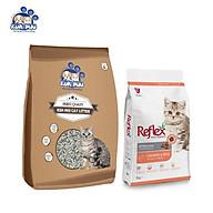 Combo cát vệ sinh cho mèo KUNMIU 8L (nặng 5.6kg) + Thức ăn cho mèo REFLEX thumbnail