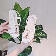 Sandal phối hoa xinh xắn phong cách thời trang thumbnail