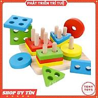 Đồ chơi Thả Hình 4 Cọc Trụ Nhiều Màu Sắc Cho Bé - Đồ Chơi Giáo Dục TONY TOYS thumbnail