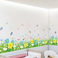 Decal dán tường trang trí phòng khách- Chân rào hoa vàng- DXL7186 thumbnail